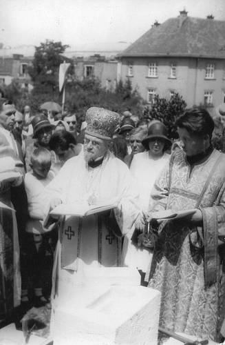 Svěcení základního kamene 6.7.1930 - vl. Gorazd